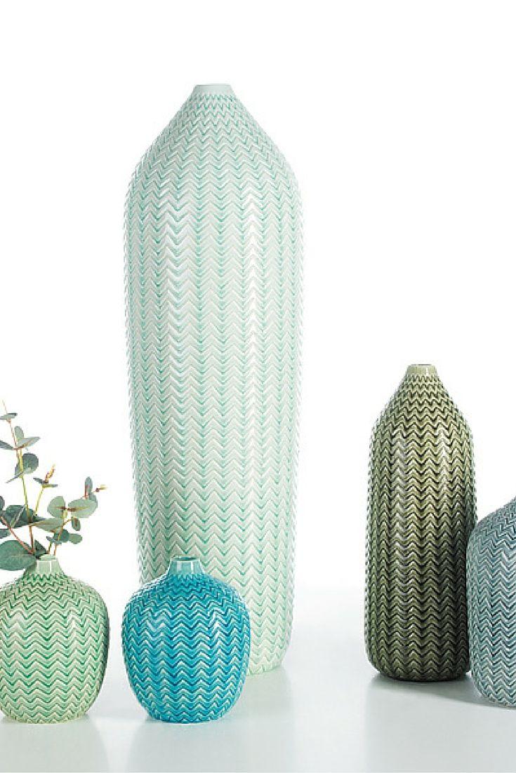Zig-Zag Line, in green&blue shades | Arfai Ceramics Portugal 2016 collection.  www.arfaiceramics.com