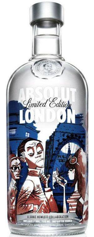 Absolut London bottle design