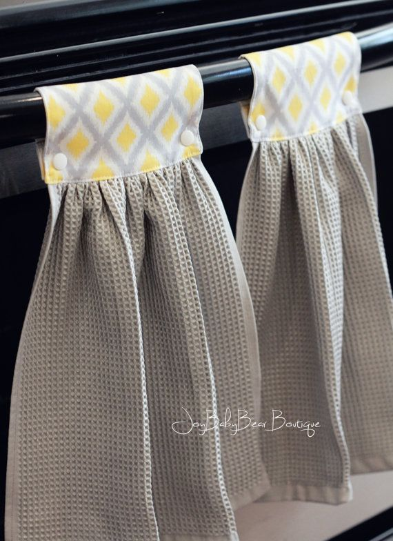 Hanging Kitchen Towel Yellow Hand Towel Kitchen by JoyBabyBear