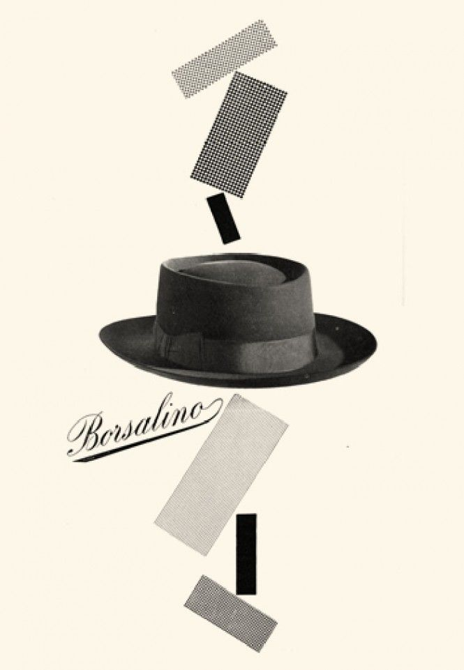 Max Huber, cappelli Borsalino 1949