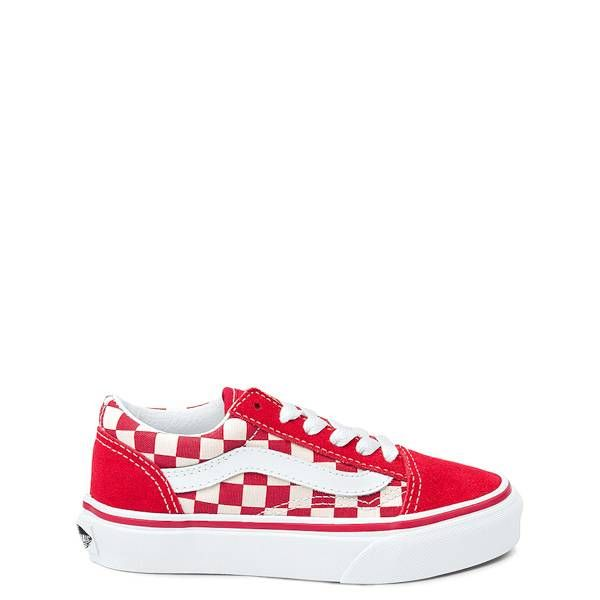 Youth Vans Old Skool Chex Skate Shoe - red - 1498098 b5e74f5f1