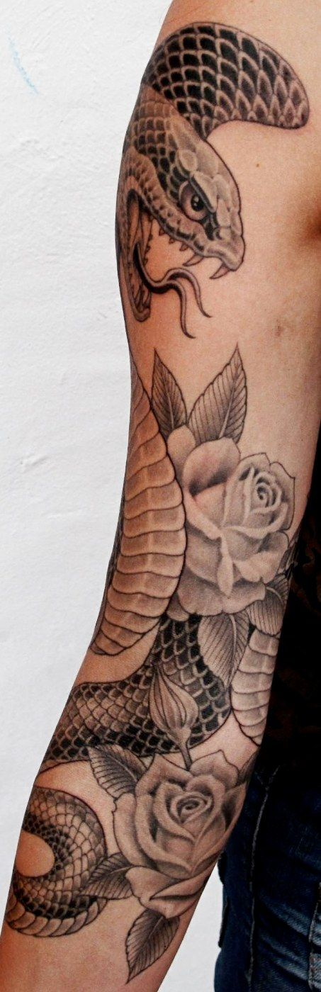 Cobra and Roses by Chris Garver.