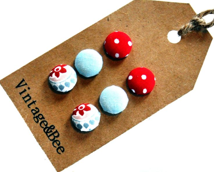 Polkadot Aqua & Moroccan Earring Set by VintageandBee on Etsy, $15.00