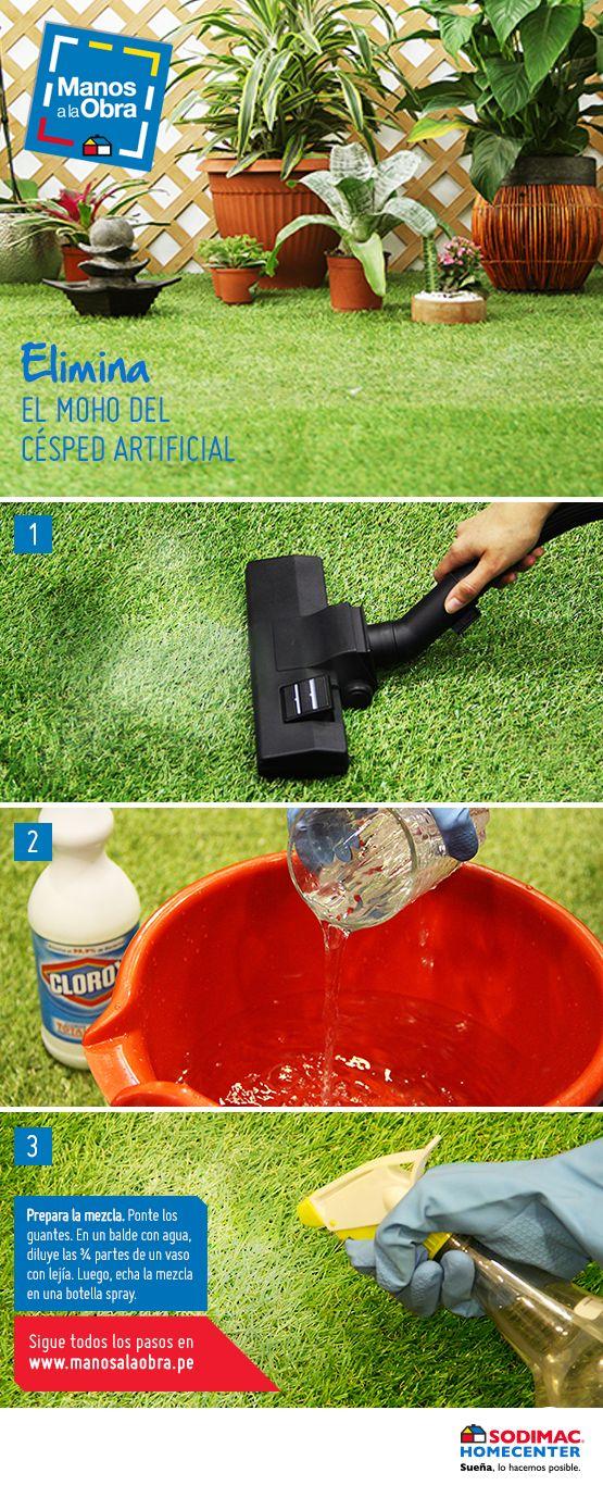 ¿Usas césped artificial en casa y no sabes cómo darle el correcto mantenimiento? ¡Sigue estos consejos!