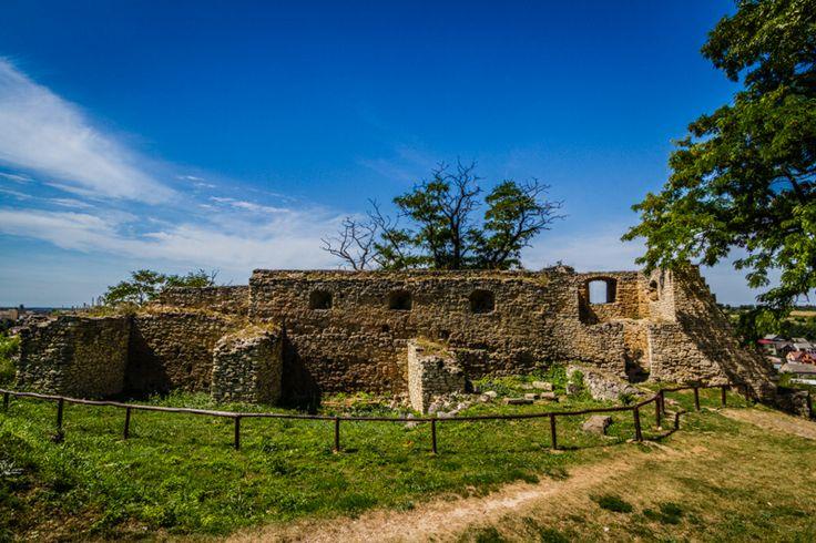 Castle walls in Ilza, Poland