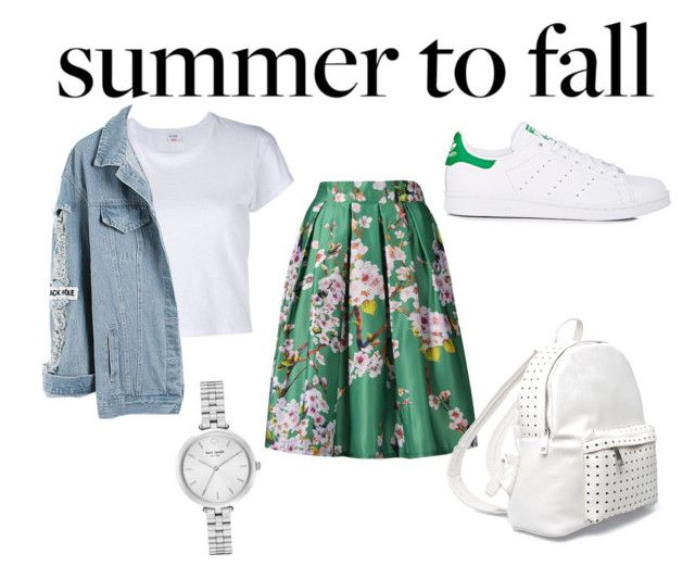 """""""summer to fall"""" by ronansheart ❤ liked on Polyvore featuring RE/DONE, adidas, 7 Chi and Kate Spade"""