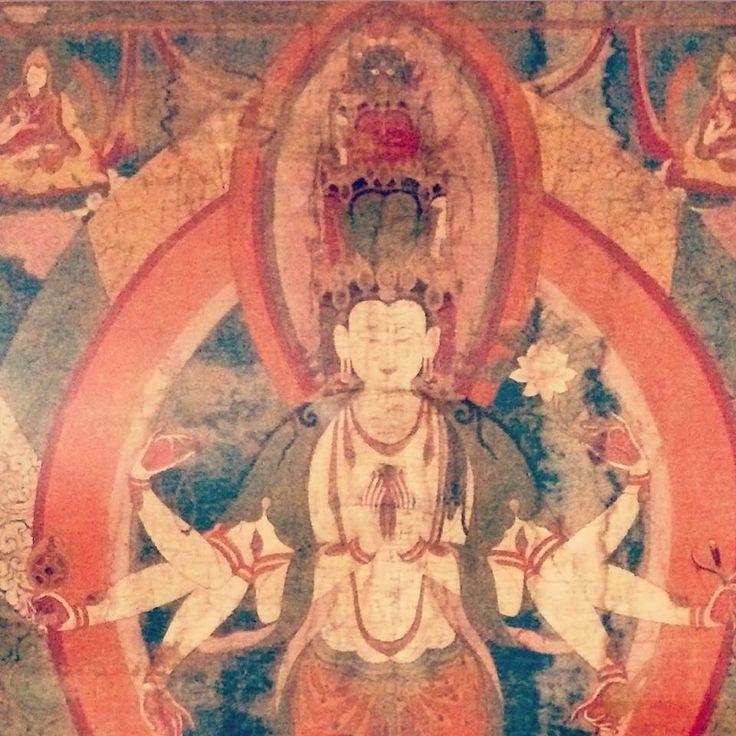 Avalokiteshvara thangka in the Sangharakshita Library - now open!