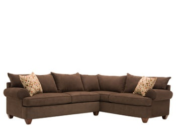 love the corner couch: Flanigan Furniture, 2Pc, Living Rooms, Vegas 2 Pc, Brown Sofas, Queen Sleeper, Studios Couch, Families Rooms, Sectional Sofas