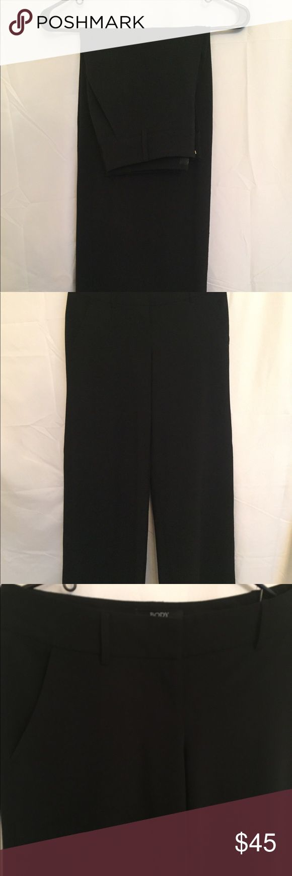 Women's trousers Body by Victoria's Secret sz 4 EUC Women's Body by Victoria Secret in black, size 4. These are a wide leg, tall trouser. Dry clean only. Victoria's Secret Pants Trousers