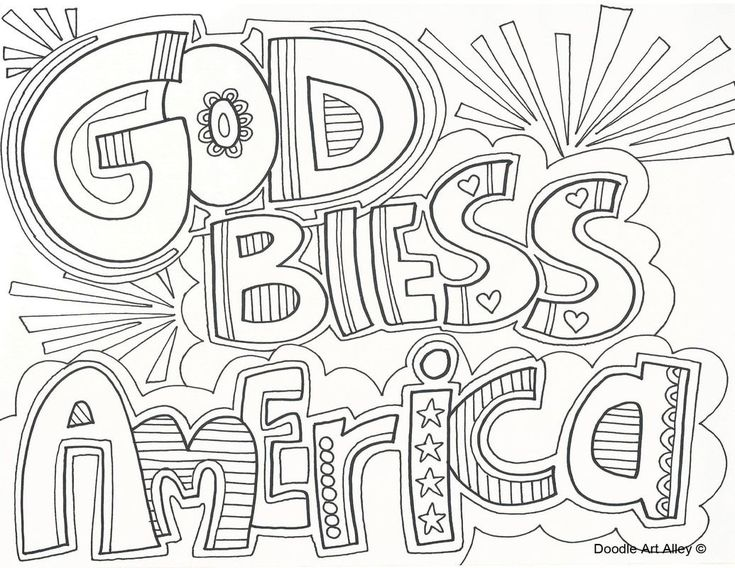 Independence Day coloring pages from Doodle Art Alley ...