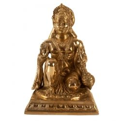 Brass Sitting Hanuman ji
