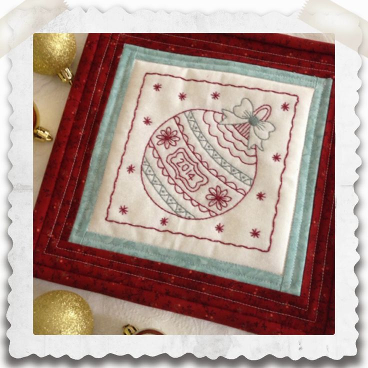 Threadbare: Christmas Bauble-Free Stitchery Pattern