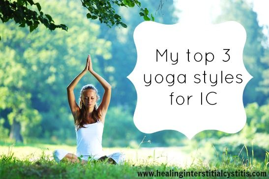 Are you looking to start a yoga practice with interstitial cystitis? Check out my top 3 yoga styles for IC! Some types of yoga can do more harm than good.