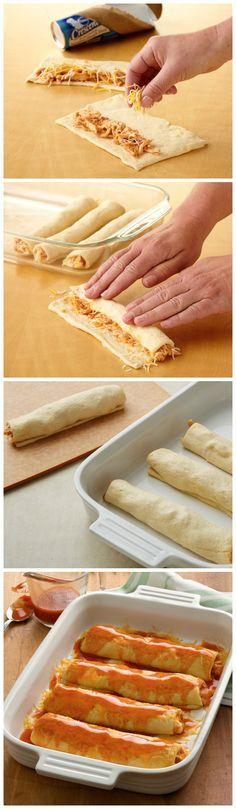 Easy Chicken Enchilada Crescent Bake