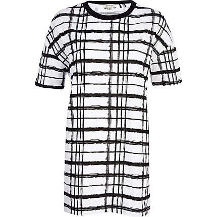 Black and white check print t-shirt - print t-shirts / vests - t shirts / vests…