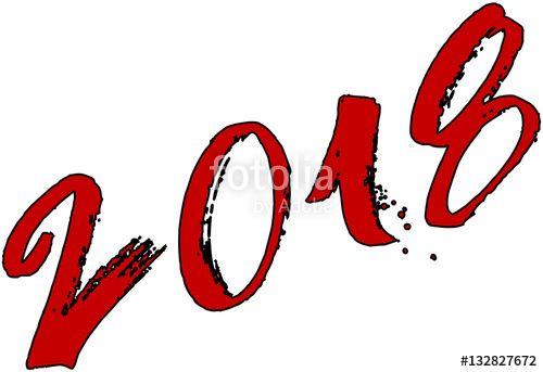 Happy 2018 sign creato da Morgan