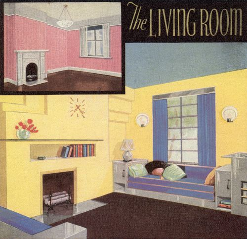 The Living Room 1930s Decor1930s