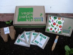Vegie Patch Kit - comes with organic seeds, bamboo plant tags, biodegradable pots and a grow guide. Perfect for kids gardening.  $24.95