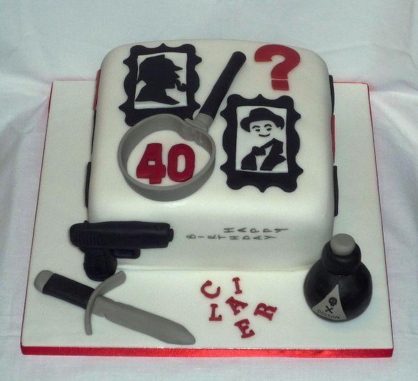 Sherlock Birthday Cake