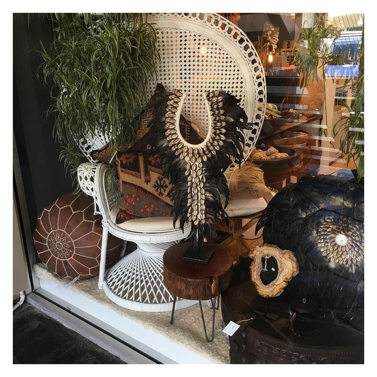 Decorative tribal piece in store at Maison and Maison