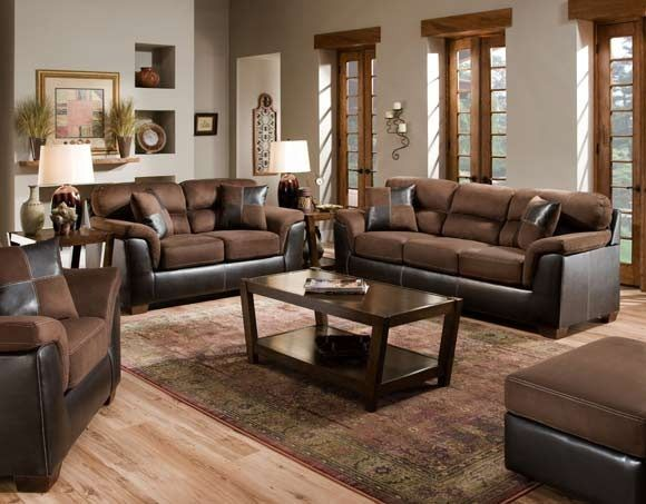 San Marino Chocolate Sofa Loveseat Afpinspiredhome My American Freight Pinspired Home