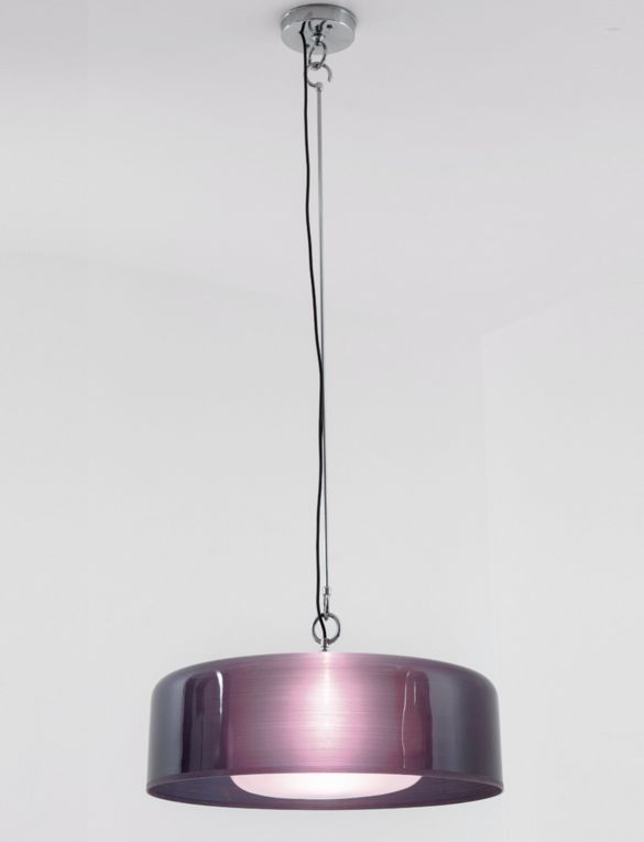 Franco Albini and Franca Helg; #2050 Chromed Metal and Perspex Ceiling Light for Arteluce, c1963.
