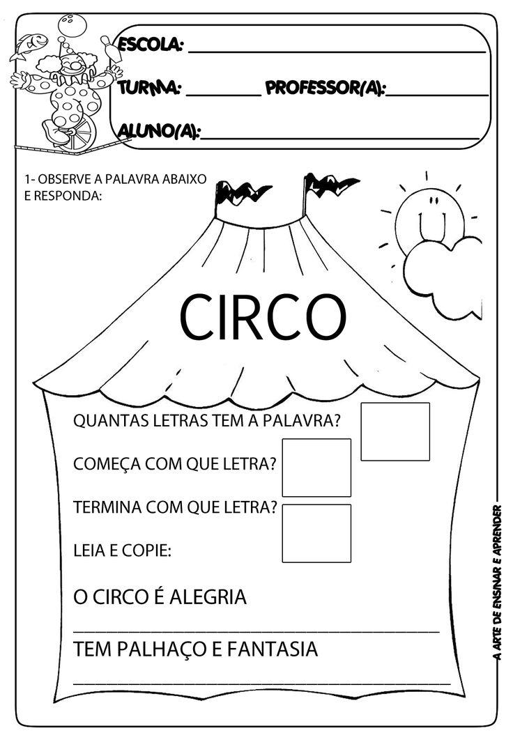 A Arte de Ensinar e Aprender: Atividades com o tema circo
