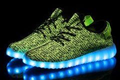 Buty LED Zielone  Lax