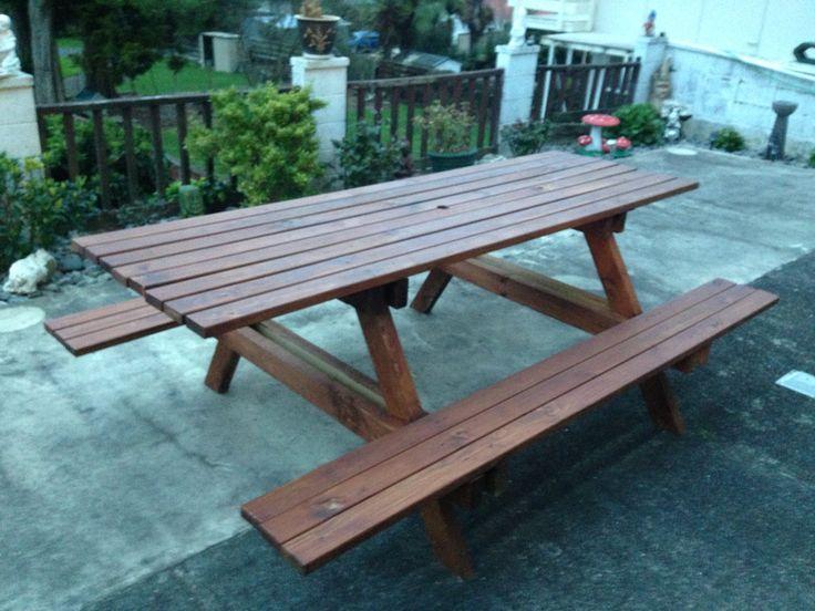 BBQ table for my nanny...2.4m x 1.5m...Xmas 2012 pressie