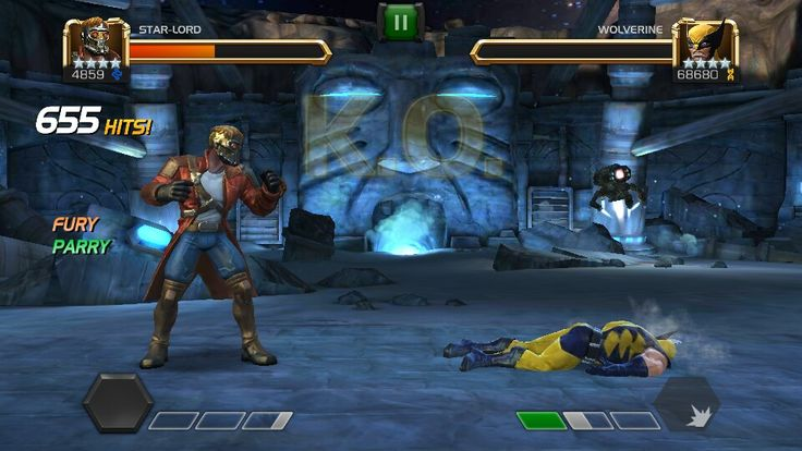 Stard Lord vs Wolverine on Realm of Legends