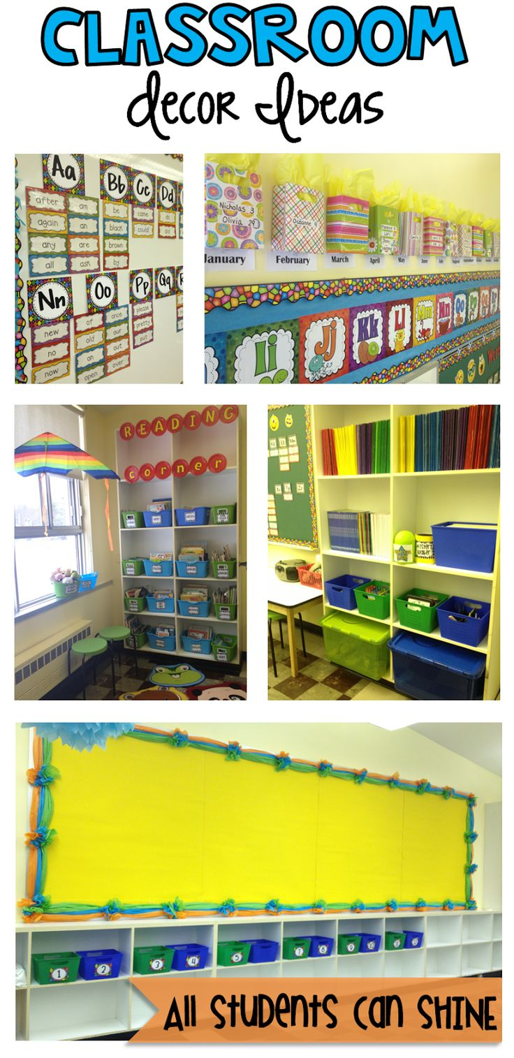 All Students Can Shine: Classroom Decor And Organization