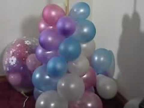 Video: How to make a balloon column