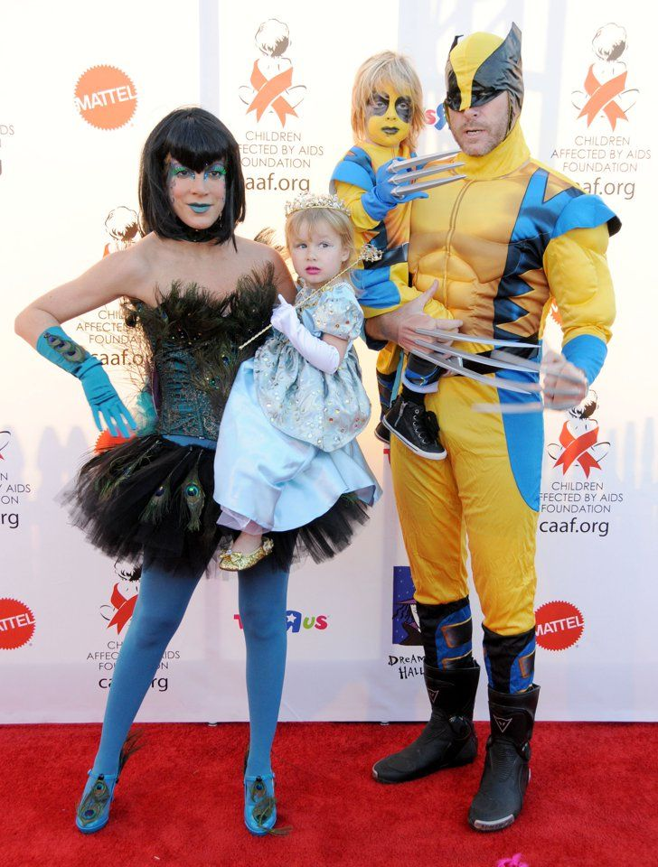 Pin for Later: The Best Celebrity Family Halloween Costumes Tori Spelling and Her Family as a Fairy, a Princess, and Wolverine