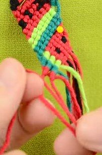 Follow this video tutorial to learn how to make a fruity friendship bracelet. | 27 Next-Level DIY Friendship Bracelets