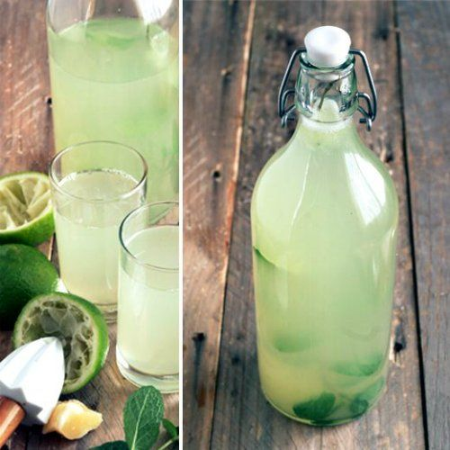 ..30-50 гр. мяты.2 лимона.3 литра воды.сахар по вкусу..Способ приготовления:..1. Обрываем с мяты листочки..2. Выдавливаем сок из лимонов...3. В кастрюлю заливаем 3 литра воды. Добавляем в нее листья мяты, сок лимона и шкурки лимона. Саха...