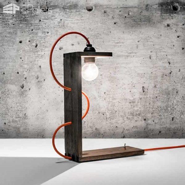 40 Stunning Lamps Made From Reclaimed Pallets Avec Images Meuble Deco Mobilier De Salon Palette Bois