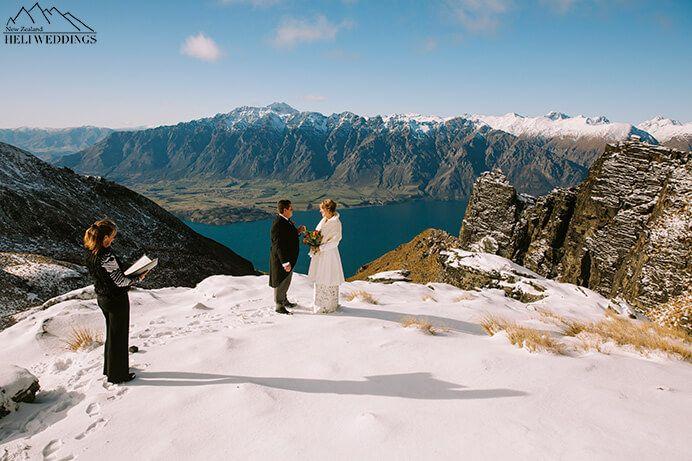 Garden Spurs Wedding, Destination Winter Wedding in the snow on Garden Spurs Queenstown New Zealand