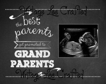 10x8 best parents get promoted to grandparents, pregnancy announcement, telling parents, new grandparents, pregnancy sign - digital file