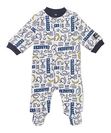 White San Diego Chargers Footie - Infant by NFL