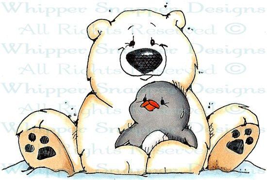 A Hug for Ike - Penguins - Animals - Rubber Stamps - Shop