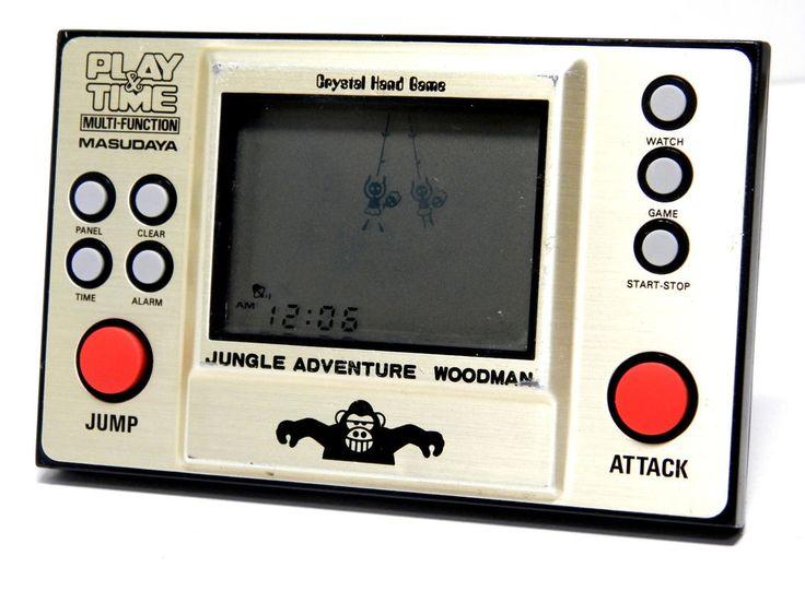80s Retro Masudaya LCD Game Watch Play & Time Jungle Adventure Woodman MIJ 1982 | eBay