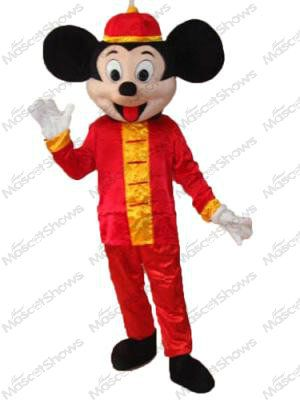 Cheap costumes devil, Buy Quality mouse fan directly from China mouse electronic Suppliers: Mickey Mouse in Tang-style Suit Mascot Adult Costume Outfit at hallowmascots.com