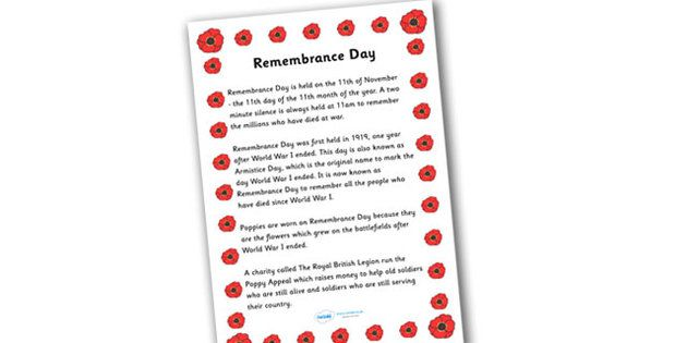 Remembrance Day Information Sheet
