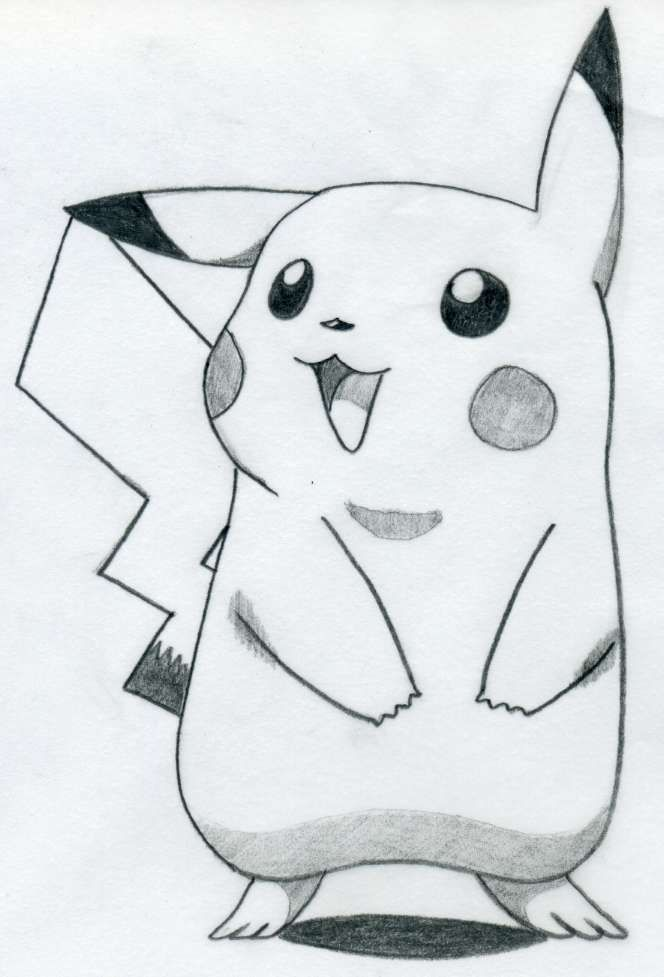 easy+pictures+to+draw | How To Draw Pikachu