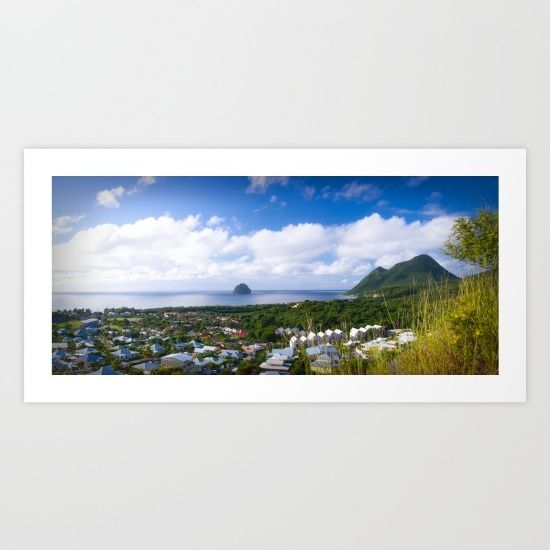 Martinique, Diamant panoramic photography, big size photo prints for interior, on canvas, giclee and more by cinema4design. #martinique #madinina #bigsize