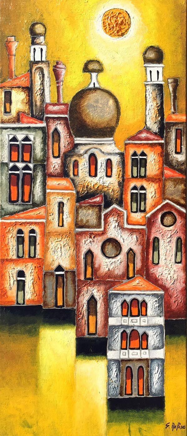 Elio De Pasco dipinto per arredo - fluidofiume galleria d'arte Trieste