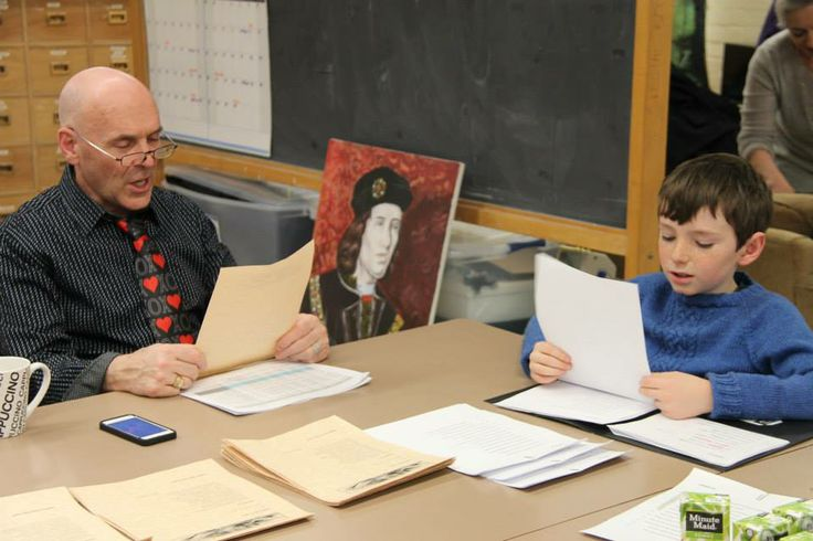 Michael paractices with his sonnet buddy, Lachlan. -2014 #Shakespeare #Sonnets #ValentinesDay #Fundraiser #Toronto #Education #Gift