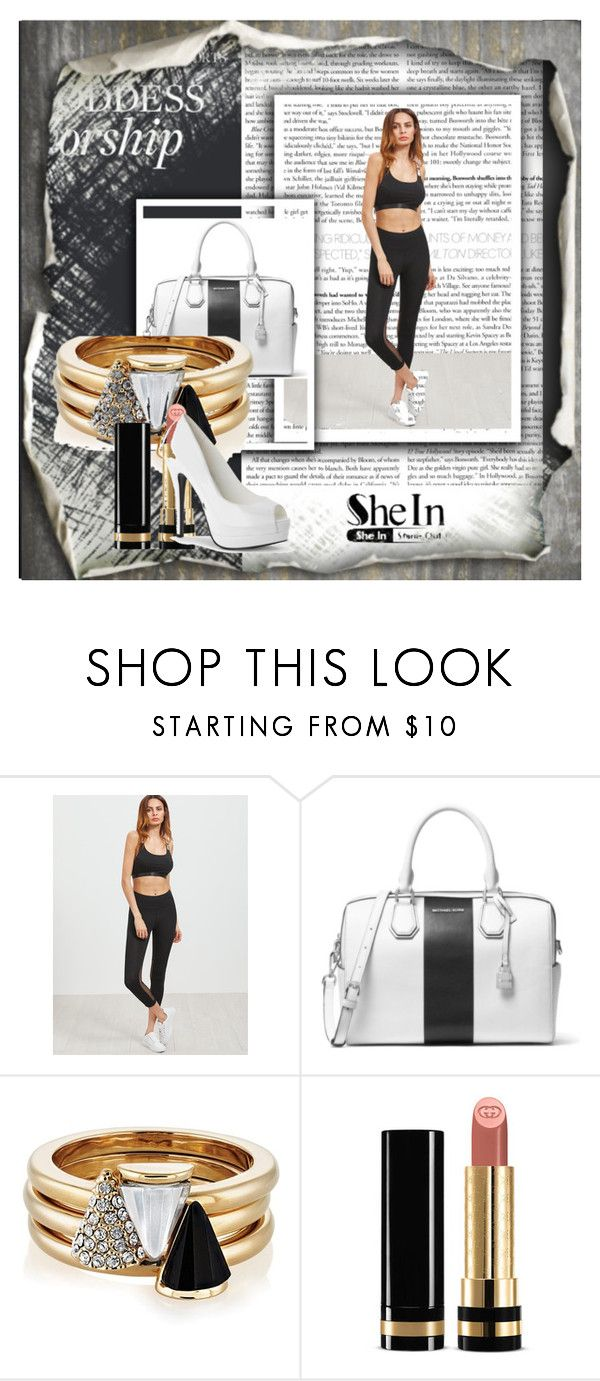 """""""fashion"""" by hamza-ii ❤ liked on Polyvore featuring MICHAEL Michael Kors, Brixton and Gucci"""
