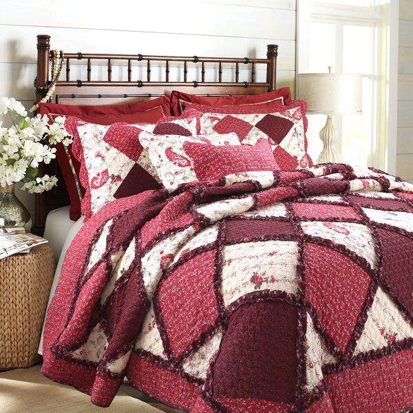Pineiro 100 Cotton 3 Piece Reversible Quilt Set In 2020 Cotton Quilt Set Quilt Sets Victorian Quilts