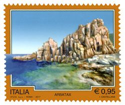 """Emissione di quattro francobolli ordinari appartenenti alla serie tematica """"il Patrimonio naturale e paesaggistico"""" dedicati al Turismo: Introd, Isola del Liri, Pontelandolfo e Arbatax"""